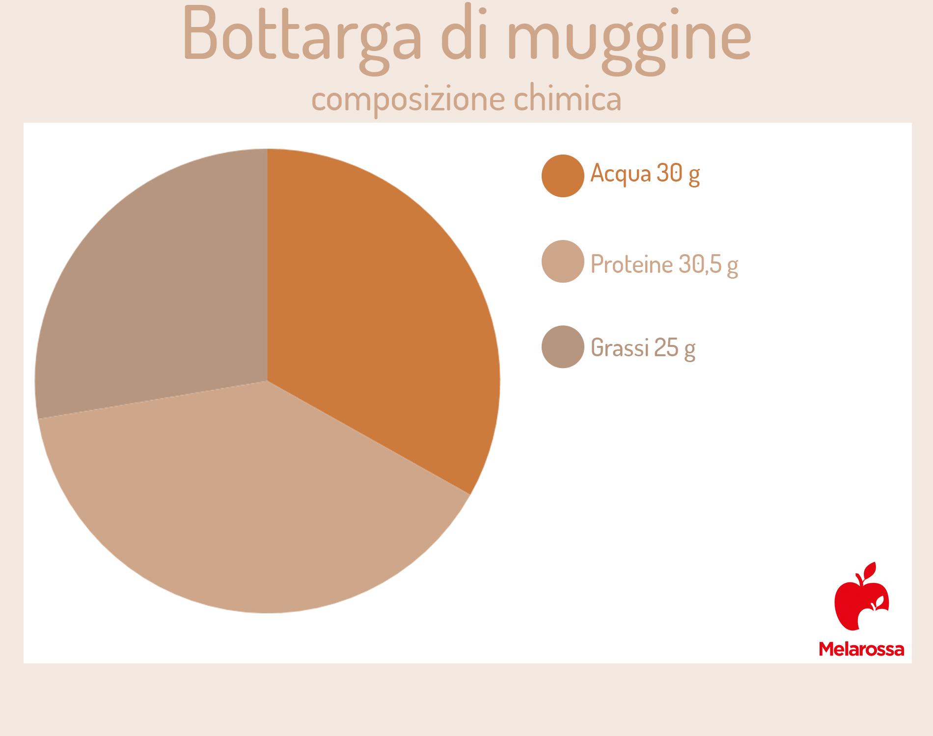 Bottarga: composición química