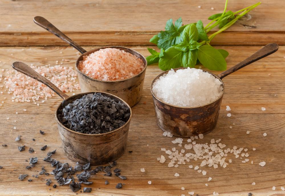 diferentes tipos de sal, cuál usar en la cocina