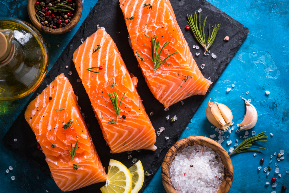 alimentos ricos en omega 3: salmón