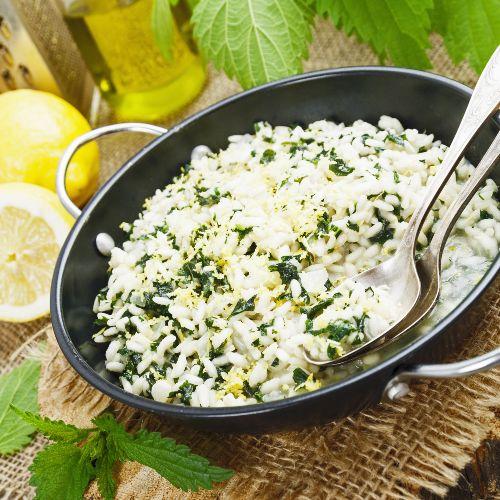 risotto con ortigas: receta